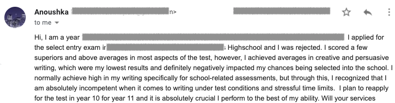 selective-school-missed-out-test-rejection